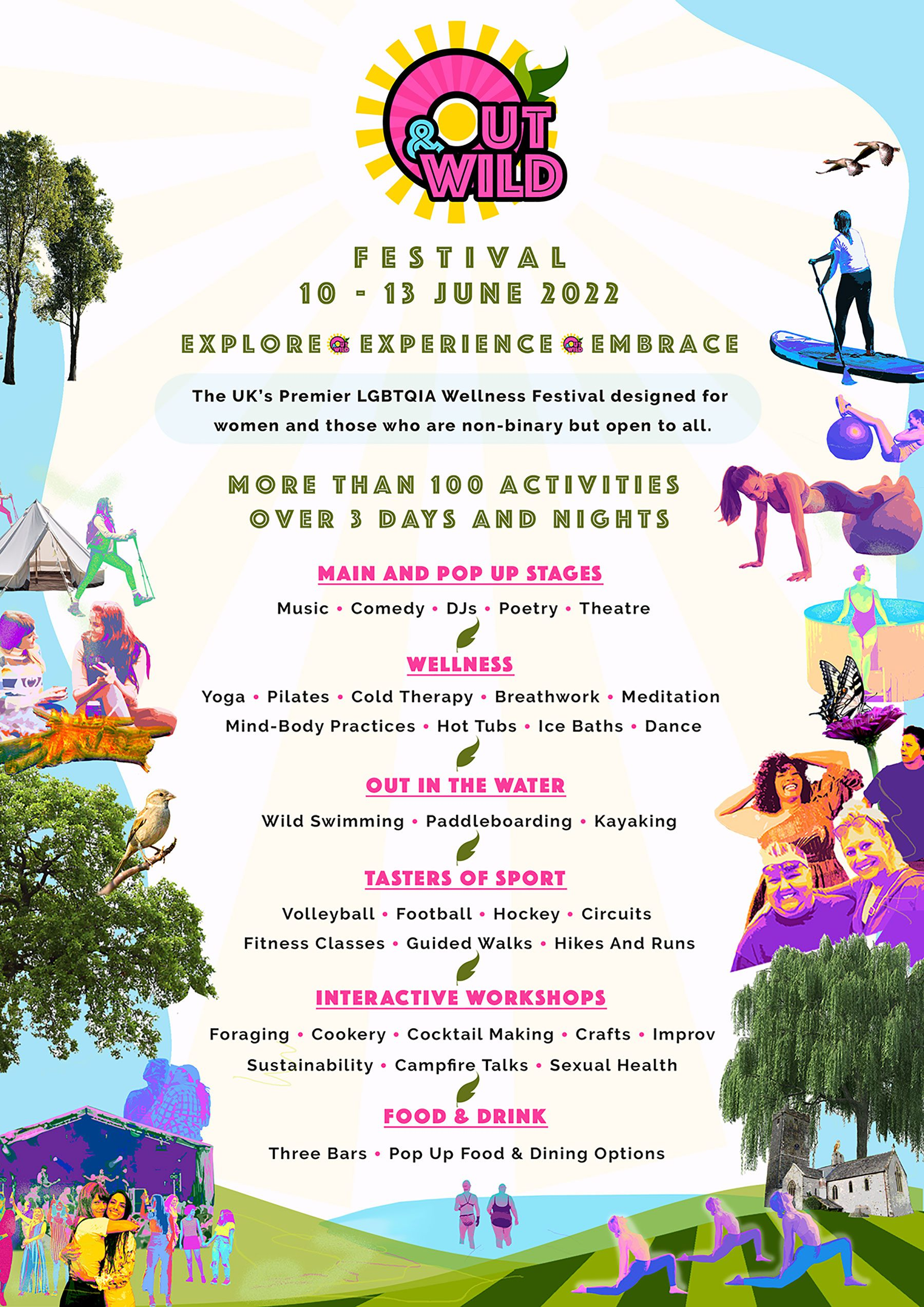 Out & Wild line up of acts